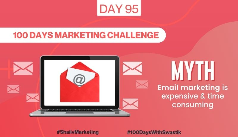 Myth Email Marketing is Expensive & Time Consuming